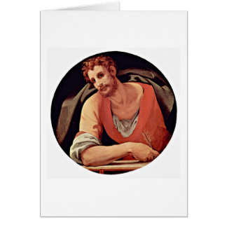 St. Mark By Agnolo Di Cosimo Greeting Card
