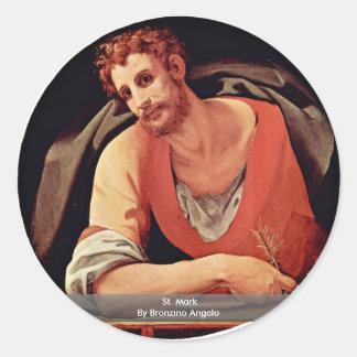 St. Mark By Bronzino Angelo Classic Round Sticker