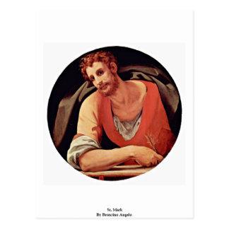 St. Mark By Bronzino Angelo Postcard