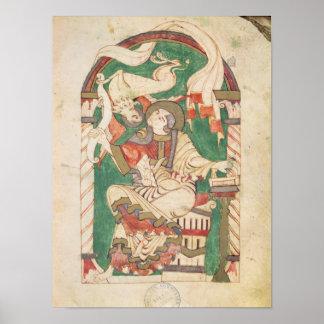 St Mark, de un evangelio de la abadía de Corbie Poster