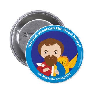 St Mark el evangelista Pin Redondo De 2 Pulgadas