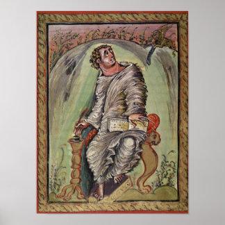 St Mark en su escritorio Póster