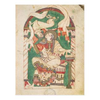 St. Mark, from a gospel from Corbie Abbey Postcard
