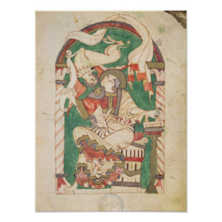 St. Mark, from a gospel from Corbie Abbey Poster