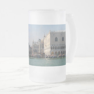 St. Mark's Square from the Grand Canal Frosted Glass Beer Mug