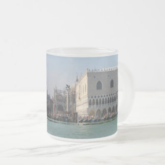 St. Mark's Square from the Grand Canal Frosted Glass Coffee Mug