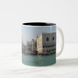 St. Mark's Square from the Grand Canal Two-Tone Coffee Mug