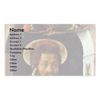 St. Mark The Evangelist By Andrea Mantegna Double-Sided Standard Business Cards (Pack Of 100)