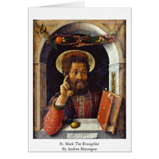 St. Mark The Evangelist By Andrea Mantegna Greeting Card