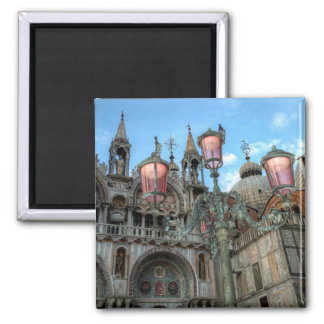 St. Marks and Lamp, Venice, Italy Magnet