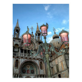 St. Marks and Lamp, Venice, Italy Postcard