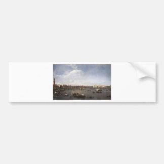 St. Mark's Basin by Canaletto Bumper Sticker