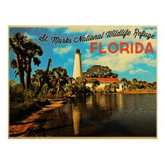 St. Marks Lighthouse Florida Postcard