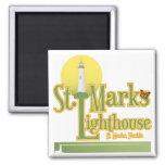 St Marks Lighthouse Refrigerator Magnets