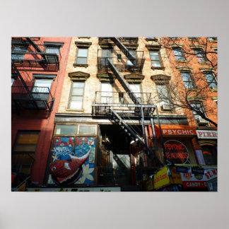 St. Mark's Place, East Village, Medium Poster