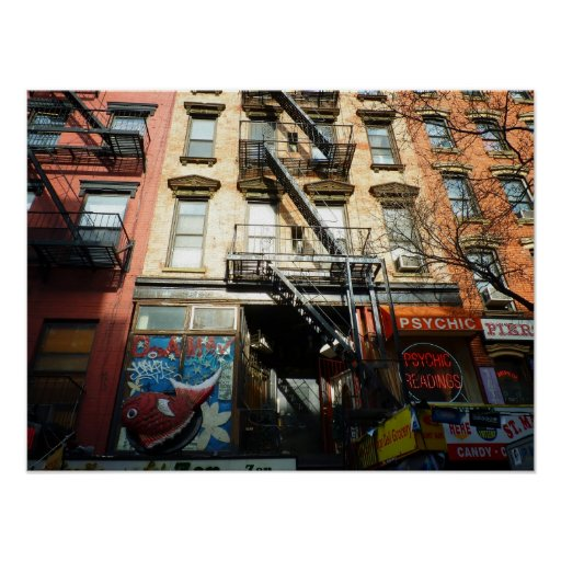 St. Mark's Place, East Village, Medium Poster