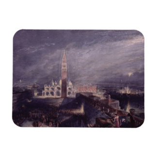 St. Mark's Place, Venice (Moonlight) engraved by G Magnet