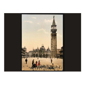 St. Mark's Place, with campanile, Venice, Italy cl Postcards