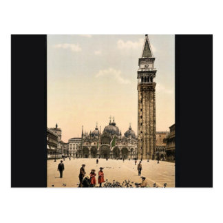 St. Mark's Place, with campanile, Venice, Italy cl Postcard