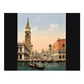 St. Mark's Place with campanile, Venice, Italy cla Postcard