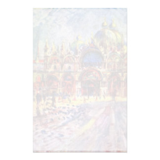 St. Mark'S Square In Venice By Pierre-Auguste Stationery