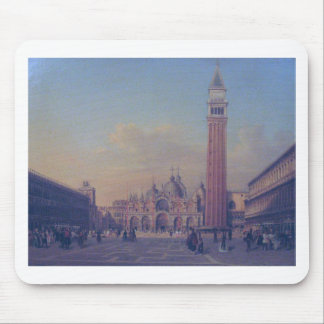 St. Mark's Square in Venice with Austrian military Mouse Pad