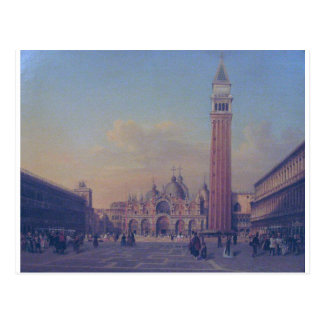 St. Mark's Square in Venice with Austrian military Postcard