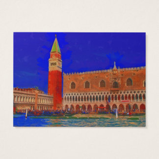 St Mark's Square Piazzetta painting Business Card