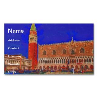 St Mark's Square Piazzetta painting Business Card Magnet