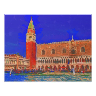 St Mark's Square Piazzetta painting Flyer