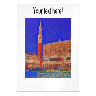 St Mark's Square Piazzetta painting Magnetic Card