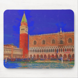 St Mark's Square Piazzetta painting Mouse Pad