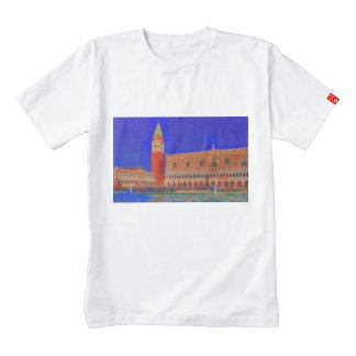 St Mark's Square Piazzetta painting Zazzle HEART T-Shirt