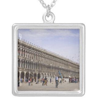 St. Mark's Square, Venice, Italy Square Pendant Necklace