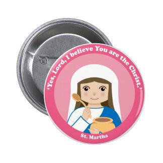 St. Martha Pinback Button