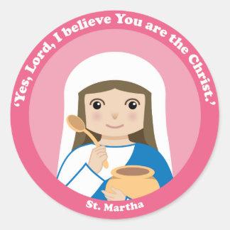 St. Martha Classic Round Sticker