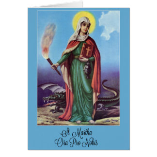 St. Martha Novena Prayer Card