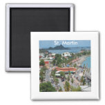 St. Martin and Marigot Bay Photo 2 Inch Square Magnet