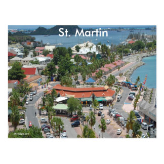 St. Martin and Marigot Bay Photo Postcard