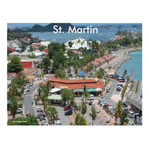 St. Martin and Marigot Bay Photo Postcard