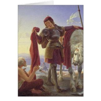 St. Martin and the Beggar, 1836 Card