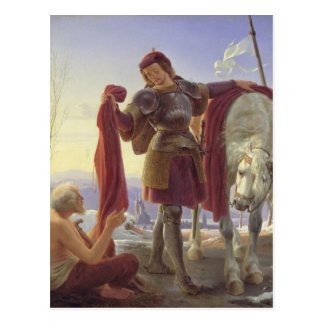 St. Martin and the Beggar, 1836 Postcard