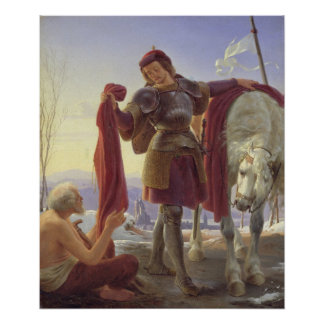 St. Martin and the Beggar, 1836 Poster