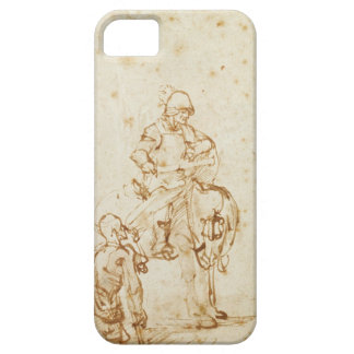 St. Martin and the Beggar (pen & ink on paper) iPhone SE/5/5s Case