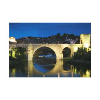 St Martin bridge, Toledo Canvas Print