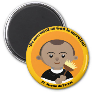 St. Martin de Porres 2 Inch Round Magnet