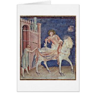 St.Martin Dividing His Cloak By Simone Martini Card