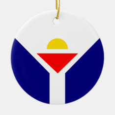 St. Martin Flag Ceramic Ornament at Zazzle