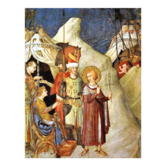"""St Martin Leaves The Life Of Chivalry And Renounce 8.5"""" X 11"""" Flyer"""