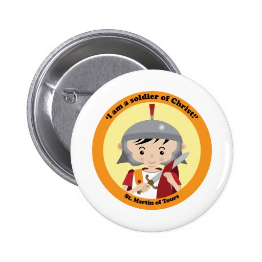 St. Martin of Tours 2 Inch Round Button